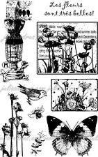 EcoGreen Recycled Rubber Art Stamp Set  GARDEN CHIC Spring  ~ 9 Stamps  ~ 04308