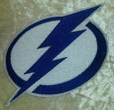 "Tampa Bay Lightning NHL Logo 3.5"" Iron On Embroidered Patch ~USA Seller~"