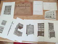 Fine reproduction furniture Trollope & Sons Complete set 31 plates price list 38