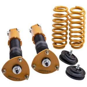 Two Rear Coilover Coil Springs for BMW X5 E53 2000-2006 Adjustable Height Shocks