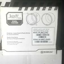 "Zodiac PLNICLRG 1"" Rear Outlet Gunite Plastic Niche fr Pool & Spa Lighting LARGE"
