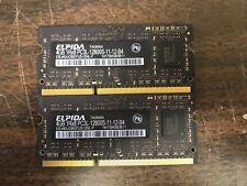 Elpida 8GB Kit(2x4GB) 1RX8 PC3L-12800 SODIMM Memory RAM iMac MacBook Pro 30dayWT
