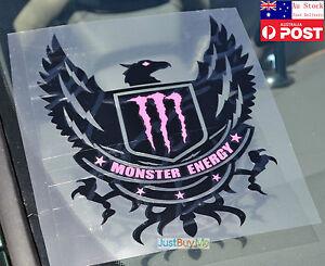 Monster Energy Eagle Vinyl Car Truck Body Window Glass Pink Sticker Decal 23cm