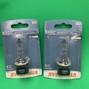 2 SYLVANIA 880 Basic Performance Halogen Fog Bulb