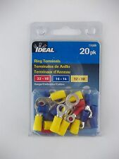 20-Pack Ring Terminal Assortment Ideal 770300, 22-16, 16-14, 12-10 Gauge