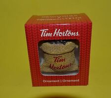 NEW  2016 Tim Hortons Christmas Ornament  COFFEE BEAN BAG with BOX