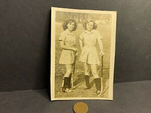 Vintage Photo, Circa 1940's, Field Hockey Girls