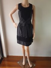 ALANNAH HILL Ladies Black Bow Front Sleeveless Knee Length Dress Size: 10 EC