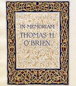 Illuminated Celtic Manuscript Thomas O'Brien Tribute Inspiration Copper Mining