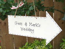Personalised Wedding Birthday Party Directions Arrow Sign Plaque ~ Any Colours