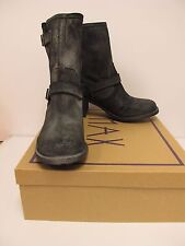 ROCKET DOG Womens EDMOND Black Buffed Leather Zip Boots Size 8M