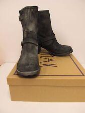 ROCKET DOG Womens EDMOND Black Buffed Leather Zip Boots Size 9.5M