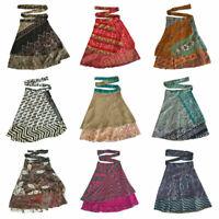 Wholesale Lot Indian Vintage Silk Skirts Bohemian Women Gypsy Hippie Boho Wrap