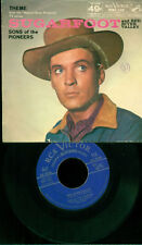 Rare 45 rpm record with picture sleeve, Sugarfoot TV Theme, Sons of Pioneers