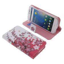 Tasche für Acer Liquid Z530 Book-Style Schutz Hülle Handytasche Buch Lila Blüten
