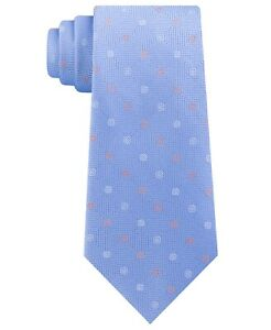 Michael Kors Men's Square Texture Ground and Dot Silk Tie (Blue)