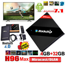 H96 Max Android 7.1 Smart TV Box 4GB/32GB Quad-Core RK3399 4K HDR10 BT Latest