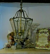 More details for a charming vtg.french brass country porch or hall lantern / light / lamp ~