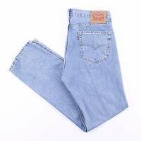 Vintage LEVI'S 505 Regular Straight Fit Men's Blue Jeans W34 L34