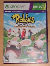 Rabbids Invasion The Interactive TV Show Video Game (Xbox 360 Kinect) NEW SEALED