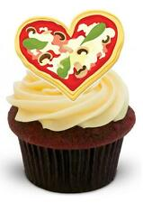 NOVELTY PIZZA HEART FOR PIZZA LOVERS! STAND UP Edible Cake Toppers Birthday Fun