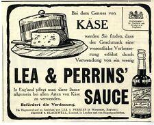 Lea & Perrins 'salsa Worcester, Inghilterra quando si beneficiarie di formaggi Histor. promozionale 1908