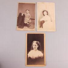 Lot of 3 Antique Photo Card carte de visite CDV Fredonia NY New York