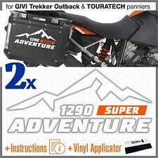 2x ADESIVI BiancoArancio compatibile KTM 1290 ADV TOURATECH GIVI TREKKER OUTBACK