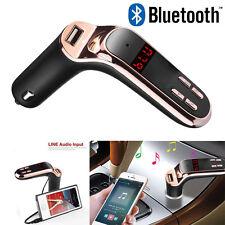 Bluetooth Car Kit Handsfree FM Transmitter Radio MP3 Player USB Charger &AUX