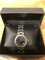 Wenger Swiss Military Womens 79172 Stainless Steel 200mm Watch Silver Black