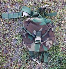Specialty Defense SDS MOLLE RACK Drop Leg Bag / Mask Pouch - Woodland Camo