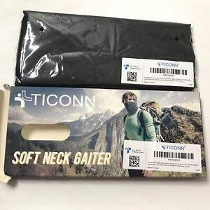 TICONN Neck Gaiter 2 Pack Outdoor Breathable Face Cover Ideal for Hiking Run New