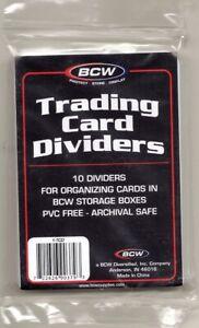 Card Box Dividers and Monster Pads - Regular, Tall, Tab Divider -  Card Supplies