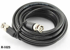 25 ft. RG58 Coaxial Cable w/ BNC Male Connectors, Black