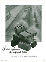 Publicité ancienne vos bagages chez les gens de métier 1950 issue de magazine