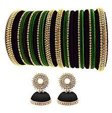 Indian Wedding Silk Thread Bollywood Designer Bangle Set & Earring size 2*6