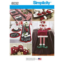 Simplicity Sewing Pattern 8032 Christmas Entertaining Accessories