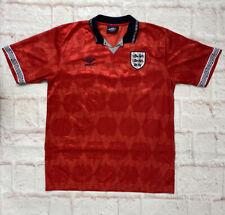 F18 Retro Re-Issue England Men's Away Football Shirt  Umbro 1990/94  (Large)