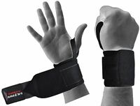 ULTRA FITNESS® Power Weight Lifting Wrist Wraps Supports Gym Training Fist Strap