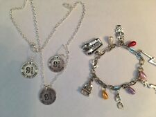 Wizard bracelet and 9 3/4necklace & earring set may interest Harry Potter fan