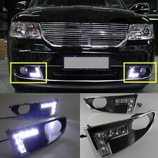 2PCS Bright DRL White Daytime Running Light LED For Dodge Avenger 2009-2012