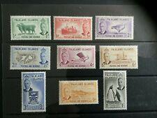 Falkland Islands: 1952 King George VI definitive set to 1/- Mint Lightly Hinged