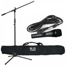 NJS Dynamic Microphone Kit Includes Mic Adj Boom Stand 3m Lead and Carry Case