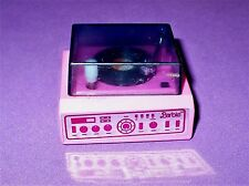 VINTAGE BARBIE PINK RECORD PLAYER WIND UP TOY WORKS VGC