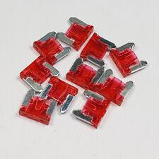 5 X 10 Amp Fusible Hoja Micro Rojo 10 A Amperios un Coche Fusibles Mini Bajo Perfil Coche