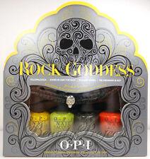 OPI Rock Goddess Mini Nail Lacquers Polish + Bracelet 4pc Set .1/8oz NEW