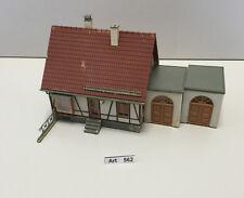 Faller B-215 H0 Fachwerkhaus mit 2 Garagen,gut geklebt,1:87,selten & RAR