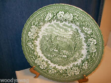 Vintage H Aynsley Dinner Plate England's Heritage Ironstone Hand Engraving Flute
