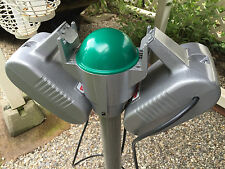 1970s Restored Silver Simplex Drive-In Movie Speaker With Lighted Junction Box