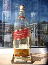 Johnnie Walker large bottle 4.5 liter Red Label swing cradle empty used rare VTG